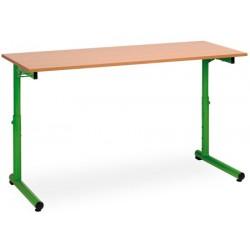 Table scolaire reglable a degagement lateral Meline 70x50cm plateau mélaminé chant PVC T3 a T7