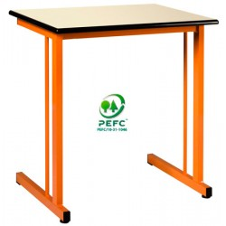 Table scolaire Volga 130x50 cm stratifié chant surmoulé T4 à T6