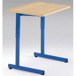 Lot de 2 tables scolaires NF à dégagement latéral Quatro stratifiée alaise 70x50 cm réglables T3 à T6 autres coloris