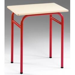 Table scolaire 4 pieds Primo mélaminé PVC sans casier 80x60 cm