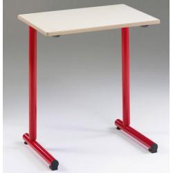 Lot de 2 tables scolaires NF à dégagement latéral Jeanne 70x50 cm mélaminé