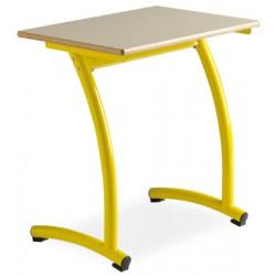 Table sco+F:BBlaire a degagement lateral Valentin70x50cm plateau mélaminé chant PVC T4 a T6