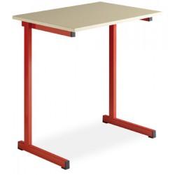 Table scolaire a degagement lateral Fanny 70x50cm plateau stratifié chant surmoule T4 a T6