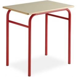 Table scolaire Lucie 130x50cm plateau mélaminé chant PVC T4 a T6