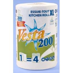 Pack de 9 essuies tout compacts Ecolabel 200 formats 39x19,6 cm blanc