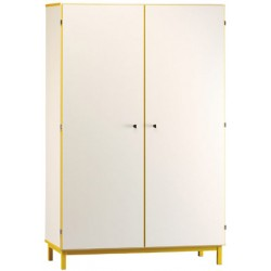 Armoire haute 2 portes battantes L120xH180xP45 cm (autres coloris)