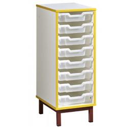 Meuble pour bacs 1 colonne L36,5xH95xP45,5 cm
