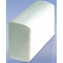Carton de 25 paquets d'essuie-mains plies en Z Ecolabel 150 formats 23x21,6 cm blanc