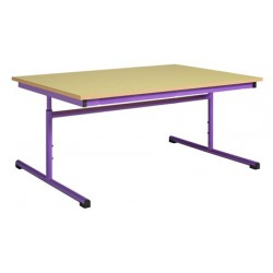Table maternelle réglable 120x60 cm stratifié chants alaisés