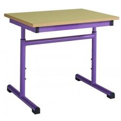 Table maternelle réglable 60x60 cm stratifié chants alaisés
