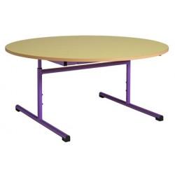 Table maternelle réglable ronde ø 120 cm mélaminé chants PVC