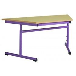 Table maternelle réglable trapèze 120x60x60 cm mélaminé chants PVC