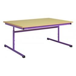 Table maternelle réglable 120x60 cmmélaminé chants PVC
