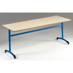 Table maternelle réglable NF T1 à T4 à dégagement latéral Loulou stratifié 160x60 cm