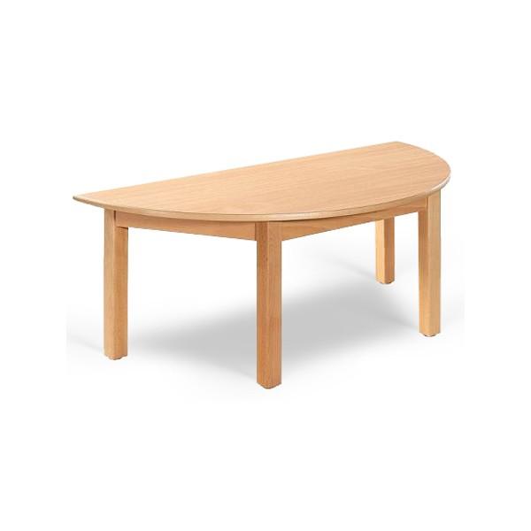 Table Maternelle Demi Lune Lola Hetre Vernis Stratifie Alaise Bois