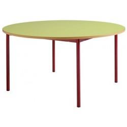 Table maternelle 4 pieds ronde ø 120 stratifié chants alaisés T1 à T4