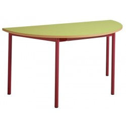 Table maternelle 4 pieds 1/2 ronde ø 120 stratifié chants alaisés T1 à T4