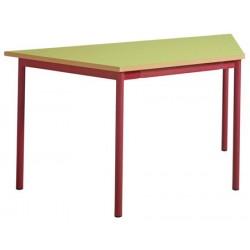 Table maternelle 4 pieds trapèze 120x60x60 stratifié chants alaisés T1 à T4