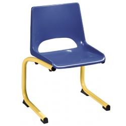 Chaise coque plastique appui sur table maternelle T1 à T4