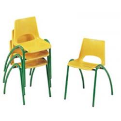 Chaise coque maternelle empilable NF éducation M3 T0 à T3 autres coloris