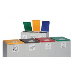 Couvercle vert de poubelle tri sélectif 60L (vendu uniquement avec le conteneur)