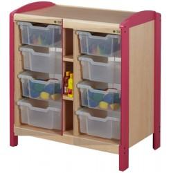 Rangement à 8 casiers H15cm 2 colonnes H97 cm