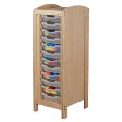 Rangement à 8 casiers H7,5cm 1 colonne H97 cm
