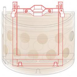Fixation sur poteau ø 100 mm pour 2 pots muraux