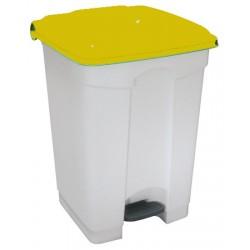 Collecteur JVD à pédale HACCP couvercle jaune 45 L