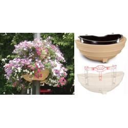 Collier de fixation pour 1 vasques ø 80 poteau ø 10,5 cm