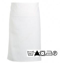 Lot de 3 tabliers chef 90x100 cm coton blanc