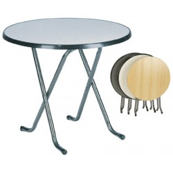 Lot de 4 tables pliantes Hédé ø 80xH74 cm