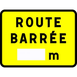 Panneau temporaire route barrée 00 m kc1 600x800 cL1 avec pieds