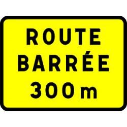 Panneau temporaire route barrée kc1 600x800 cL1 avec pieds
