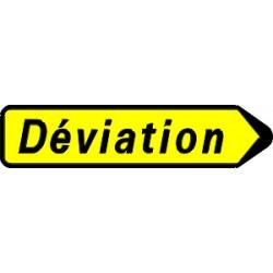 Panneau déviation flêche à gauche ou droite kd22 300x1300 CL2