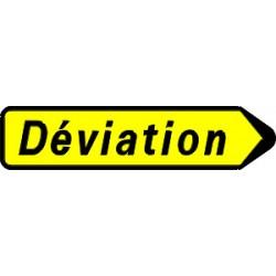 Panneau déviation flêche à gauche ou droite kd22 300x1300 CL1