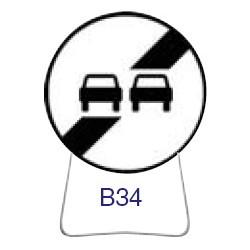 Disque temporaire galvanisé B34 650 CL1 avec pied incliné