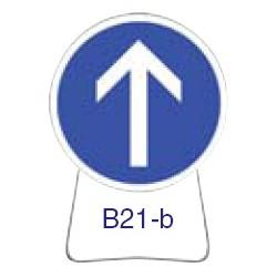 Disque temporaire galvanisé B21_B 650 CL1 avec pied incliné
