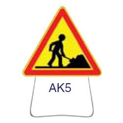 Triangle temporaire galvanisé AK5 700 CL 1