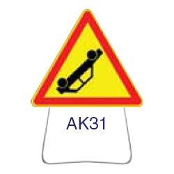 Triangle temporaire galvanisé AK31 1000 CL 2