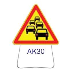 Triangle temporaire galvanisé AK30 1000 CL 2