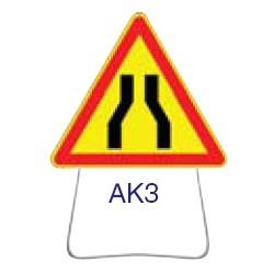 Triangle temporaire galvanisé AK3 1000 CL 2