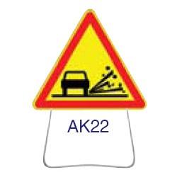 Triangle temporaire galvanisé AK22 1000 CL 1
