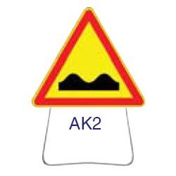 Triangle temporaire galvanisé AK2 700 CL 1