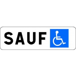 Pannonceau alu stationnement handicapés M6h CL 2 150x500 mm