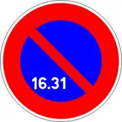 Panneau alu de signalisation stationnement B6A3 CL 1 450 mm