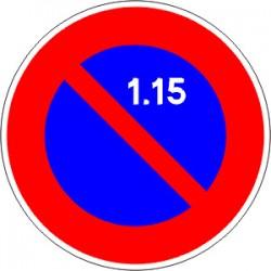 Panneau alu de signalisation stationnement B6A2 CL 1 850 mm