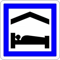 Panneau alu de signalisation des services d'aire routière CE5B CL1 700 mm