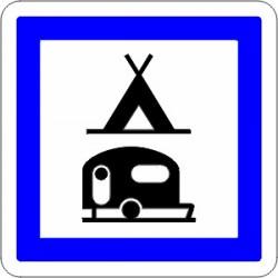 Panneau alu de signalisation des services d'aire routière CE4c CL1 350 mm