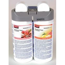 Lot de 4 recharges double parfum tender fruits and citrus leaves pour diffuseur MB Duet Rubbermaid